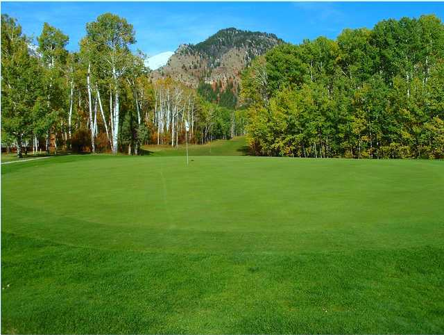 A view of the 4th green at Aspen Hills from Star Valley Ranch Country Club