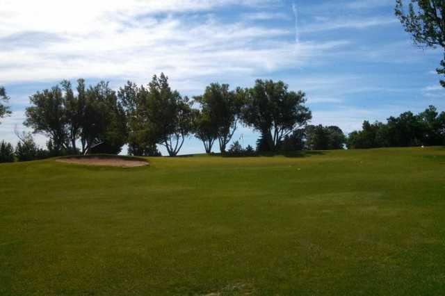 A view of the 3rd green at Wheatland Golf Club