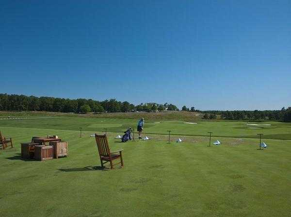 A view of the driving range at Metedeconk National Golf Club