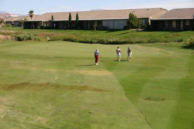 A view of a hole at Coyote Willows Golf Club