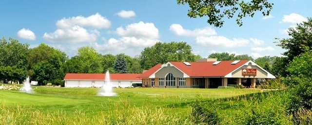 A view of the clubhouse at Water's Edge Golf Club