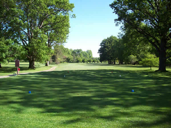 A view from a tee at Genesee Valley Golf Club