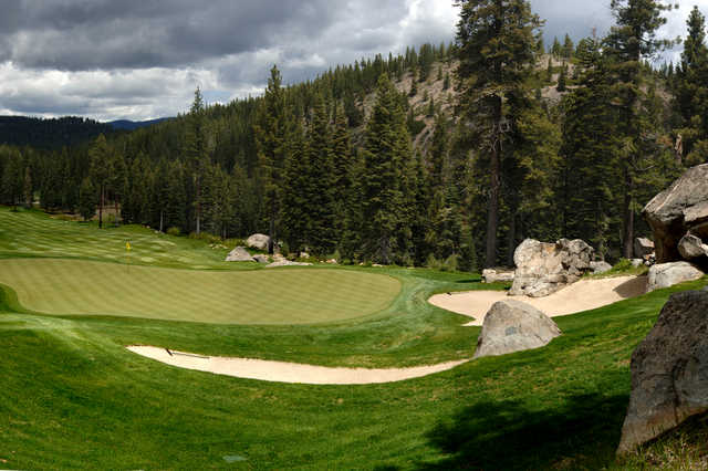 A view of the 12th green at Coyote Moon Golf Course