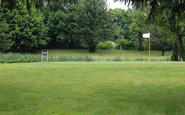 A view of a hole at Arrowhead Golf Club