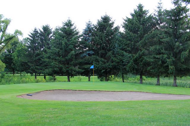 A view of a green at Arrowhead Golf Club