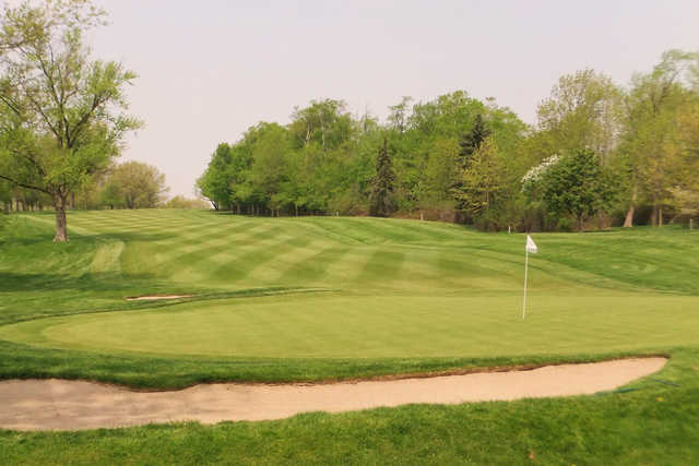 A view of a hole at Canterbury Golf Club.