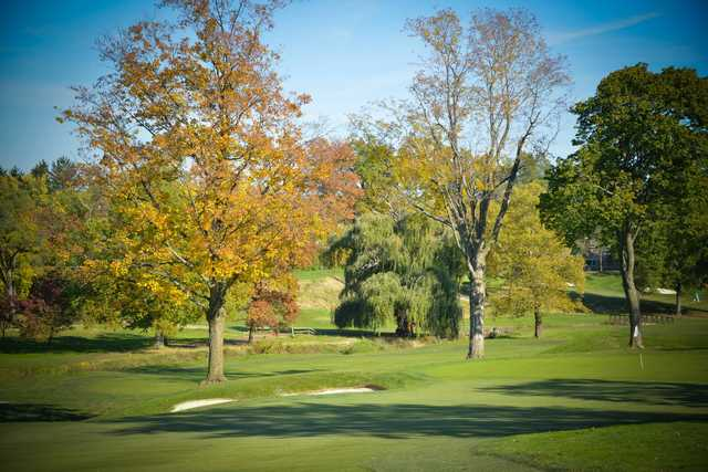 A fall view of a hole at Shaker Heights Country Club