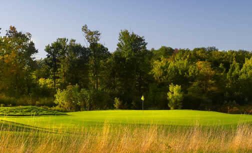 A view of a green at Sand Ridge Golf Club.