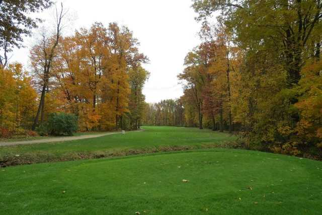 A view from a tee at North Olmstead Golf Club