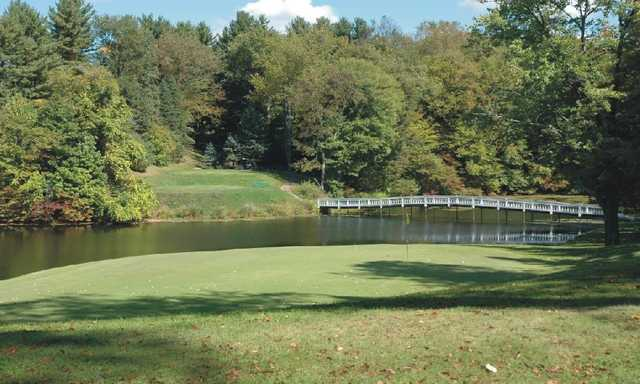 A view of a green at Berkshire Hills Golf Course