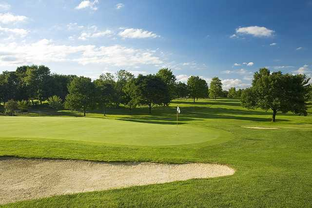 A view of a green at Weymouth Country Club