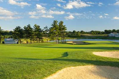 A view of a fairway at Fox Meadow Country Club