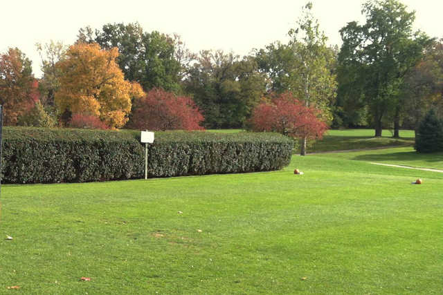 A view of a tee at Black Brook Golf Course