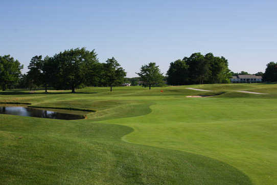 A view of a fairway at Medina Country Club