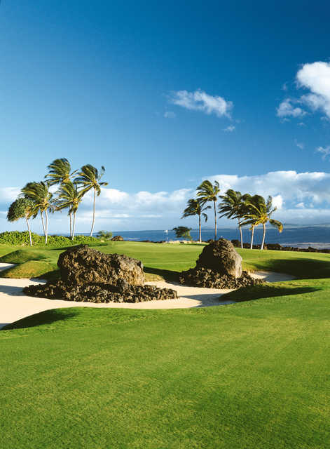 A view of  hole #5 hole at Kings' Course from Waikoloa Beach Resort