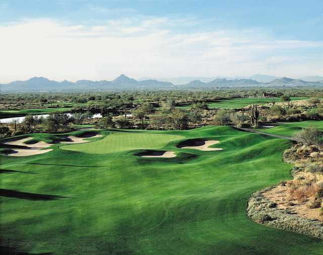 A view of hole #8 at Palmer Course from Wildfire Golf Club at Desert Ridge