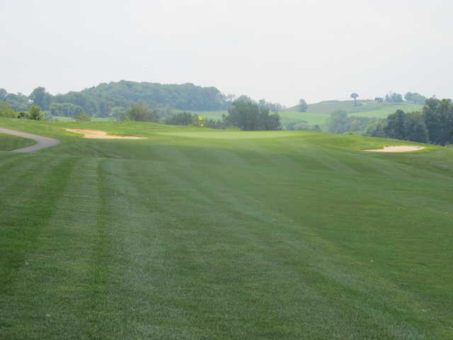 A view from a fairway at Indian Run Golf Club