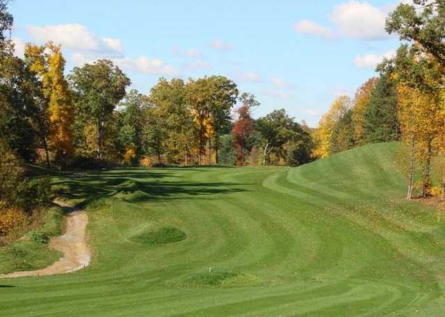 A view of a fairway at Strawberry Ridge Golf Course