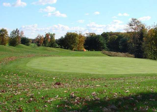 A view of a green at Strawberry Ridge Golf Course
