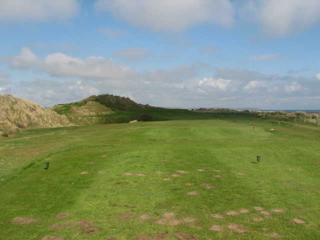 A view of the 10th green at Laytown and Bettystown Golf Club