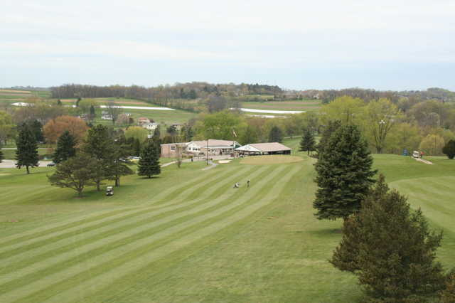 A view of a fairway at Manor Valley Golf Course