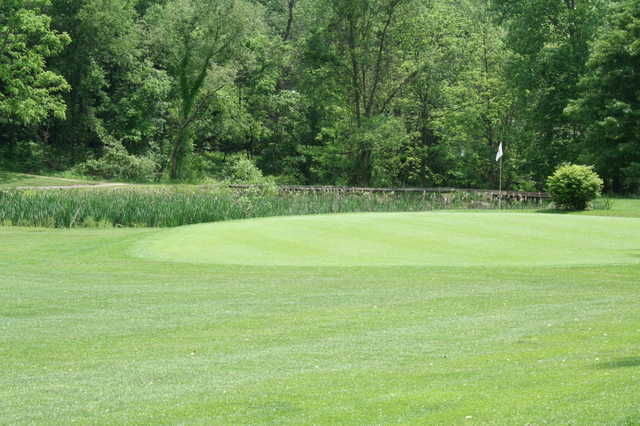 A view of a green at Manor Valley Country Club