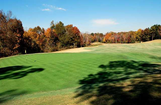 A fall view of hole #16 from FarmLinks at Pursell Farms