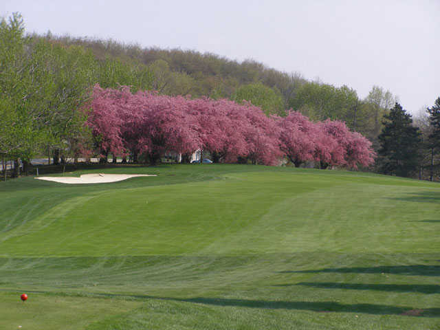 A view from a tee at Westmoreland Country Club