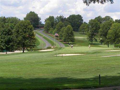 A view of a fairway at Westmoreland Country Club