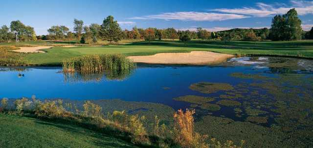 A view of the lake at Gull Lake View Golf Club