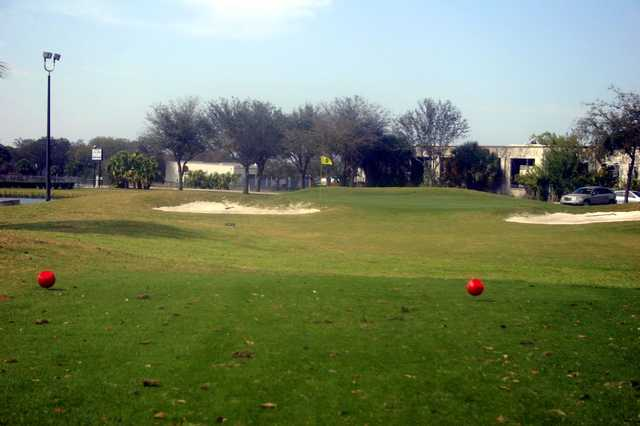 A view from a tee at Suncoast Golf Center