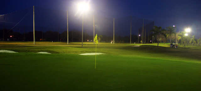 An evening view of the 4th hole at Suncoast Golf Center