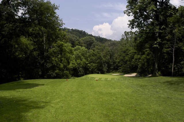 A view from a tee at Oxbow Golf & Country Club