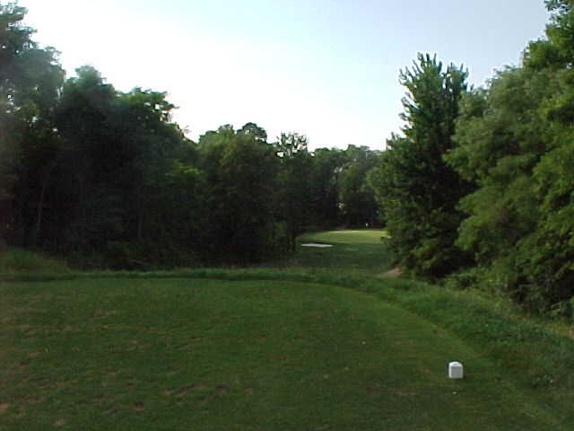 A view from a tee at Big Oak Golf Course