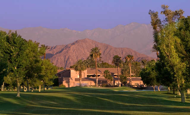 A view from a fairway at Indian Palms Golf & Country Club
