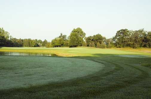 A view of the 9th tee at Hawk Hollow Golf Course