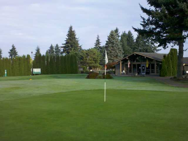 A view of a hole at Highlands Golf Course.