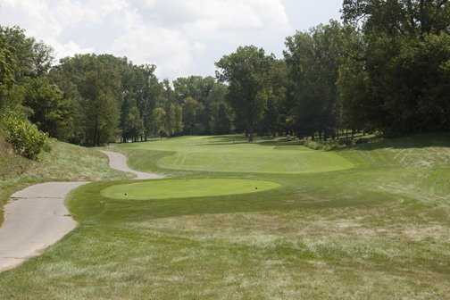 A view of the 5th tee at Hawk Hollow Golf Course