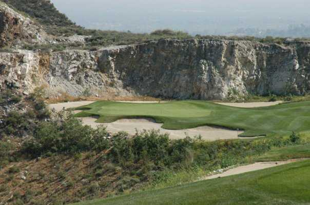 A view of a hole at Oak Quarry Golf Club