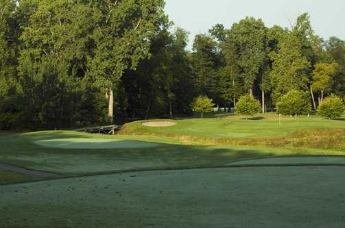 A view of tee #7 at Hawk Hollow Golf Course