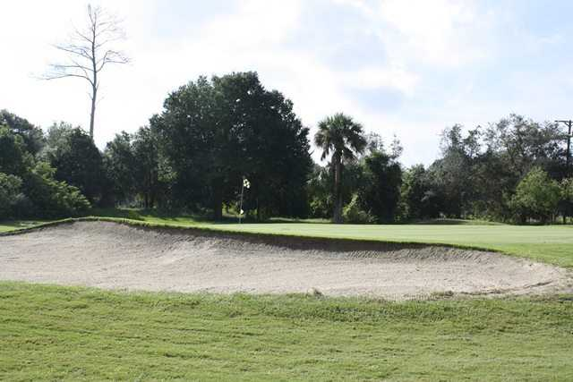 A view of a hole at Tomoka Oaks Golf & Country Club