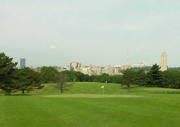 A view of a green at Bob O'Connor Golf Course from Schenley Park/The First Tee of Pittsburgh