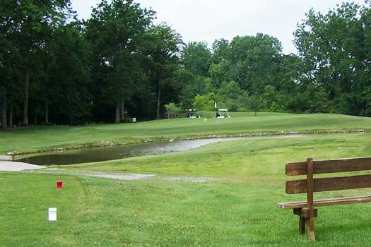 A view from the 14th tee at Pike Run Golf Club
