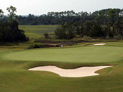 A view of the 8th green at The Golf Club from Briar's Creek