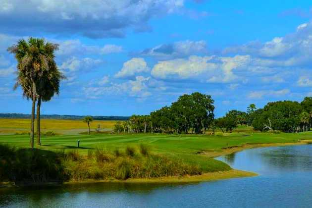 A view from Cotton Dike at Dataw Island Golf Course