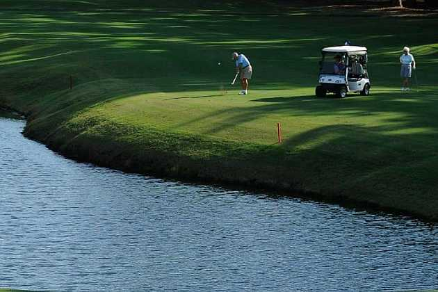 A view over the water from Morgan River at Dataw Island Golf Course