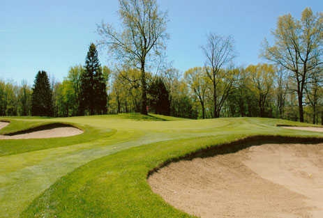 A view of the 4th green at Gull Lake View Golf Club and Resort - Bedford Valley Course