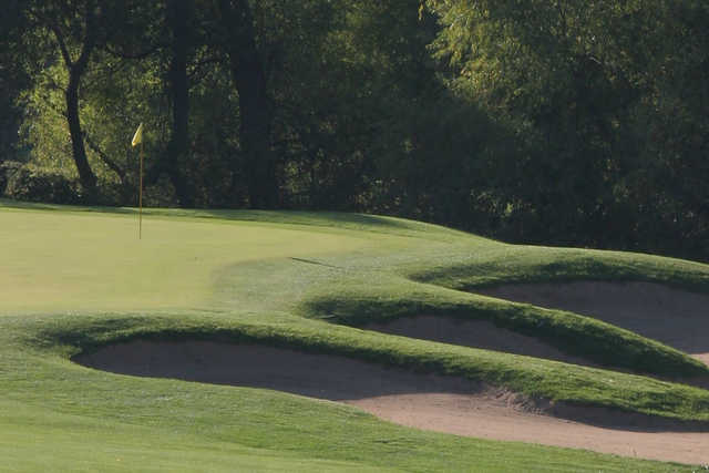 A view of the 12th hole at Prairie Green Golf Course
