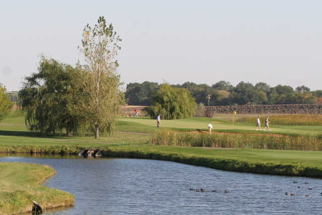A view over the water from Prairie Green Golf Course