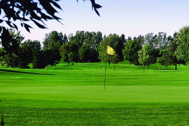 A view of a hole at Kuehn Park Golf Course